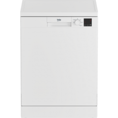Beko DVN05C20W Full Size Dishwasher - White - E- Energy Rated