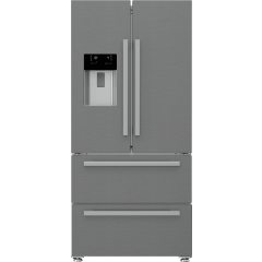 Blomberg KFD4953XD Frost Free American Style Fridge Freezer - Stainless Steel - F- Energy Rated