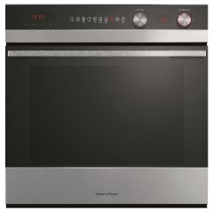 Fisher Paykel OB60SC9DEPX1 Designer 72 Usable Litres 9 Function Pyroclean - Black Glass + Ss Matches