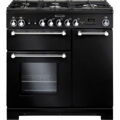 Rangemaster 116750 Kitchener 90 Natural Gas Black/Chrome