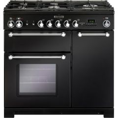 Rangemaster 81420 Kitchener 90 Dual Fuel Black/Chrome