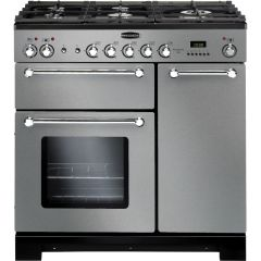 Rangemaster 98760 Kitchener 90 Dual Fuel Stainless Steel/Chrome