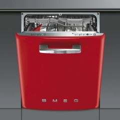 Smeg DI6FABRD 60Cm 50S Style Built In Dishwasher 13 Place Settings
