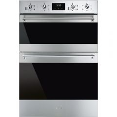 Smeg DOSF6300X Classic` Multifunction Double Oven, Stainless Steel + Eclipse Glass