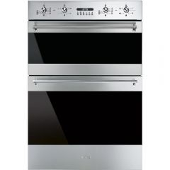 Smeg DOSF634X Classic Multifunction Double Oven, Stainless Steel + Eclipse Glass