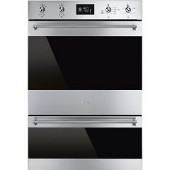 Smeg DOSP6390X Classic Multifunction Double Oven With Pyrolytic Cleaning In The Main Oven, Stainless