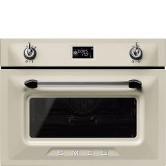 Smeg SF4920MCP1 Victoria` Traditional Compact Combination Microwave Oven