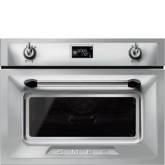 Smeg SF4920MCX1 Victoria` Traditional Compact Combination Microwave Oven