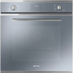 Smeg SF6400TVS `Cucina` Multifunction Oven, Silver Glass