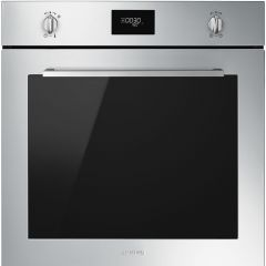 Smeg SFP6401TVX `Cucina` Pyrolytic Multifunction Oven, Finger-Friendly Stainless Steel