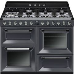Smeg TR4110GR 110Cm Victoria Slate Grey Four Cavity Traditional Cooker With Side Opening Ovens